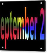 September 25 Acrylic Print