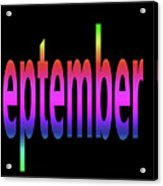 September 3 Acrylic Print