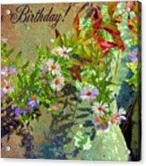 September Birthday Aster Acrylic Print