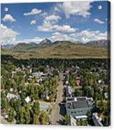 September Skies Over Crested Butte Acrylic Print
