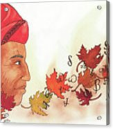 Seqouyahs Gift To The Cherokee Acrylic Print