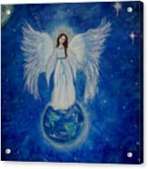 Seraphina Acrylic Print by The Art With A Heart By Charlotte Phillips