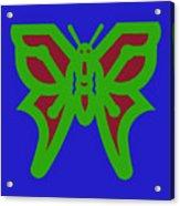 Serendipity Butterflies Blueredgreen 6of15 Acrylic Print