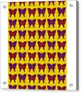 Serendipity Butterflies Brickgoldblue 26 Acrylic Print