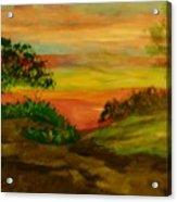 Serene Hillside I Acrylic Print by Marie Bulger
