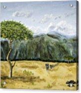Serengeti Painting Acrylic Print