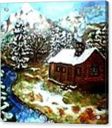 Serenity Cabin Acrylic Print