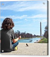 Serenity On The National Mall Acrylic Print