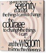 Serenity Prayer 06 Acrylic Print