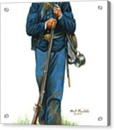 Sergeant - 20th New York State Militia 1862-1863 Acrylic Print