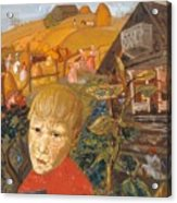Sergei Esenin 1895-1925 As A Youth, Boris Grigoriev Acrylic Print