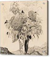 Sergey Vasilievich Chekhonin Russian 1878-1936 Flower Bouquet, 1935 Acrylic Print