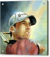 Sergio Garcia In The Castello Masters Acrylic Print