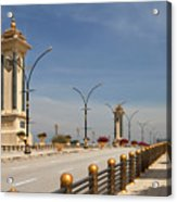 Seri Gemilang Bridge In Putrajaya Acrylic Print