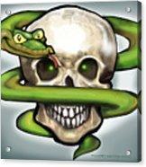 Serpent N Skull Acrylic Print