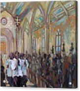 Service In San Fernando Cathedral Acrylic Print