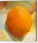 Serviette orange Acrylic Print