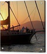 Set Sail On The Aegean At Sunset Acrylic Print