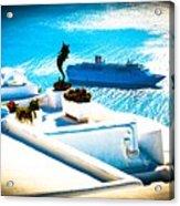 Set Sail Santorini Acrylic Print
