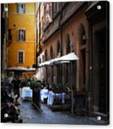 Setta Alley And Motorcycle Acrylic Print
