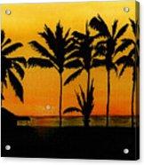 Setting Sun In The Tropics Acrylic Print