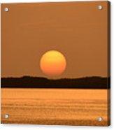 Setting Sun On Coastal Florida Acrylic Print