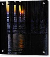 Setting Sun Pismo Beach Acrylic Print