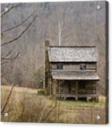 Settlers Cabin In Cades Cove Acrylic Print