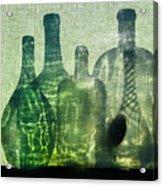 Seven Bottles Acrylic Print