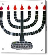 Seven-branched Temple Menorah Acrylic Print by Christine Till