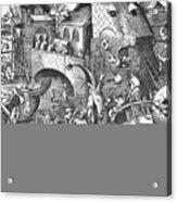 Seven Deadly Sins, 1558 Acrylic Print by Granger