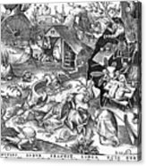 Seven Deadly Sins: Sloth Acrylic Print by Granger