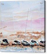 Seven Little Boats Acrylic Print