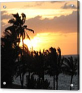 Seven Mile Sunset Acrylic Print
