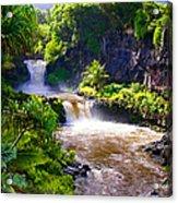 Seven Sacred Pools Maui Acrylic Print