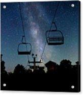 Seven Springs Milky Way Acrylic Print by Brenda Schwartz
