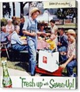 Seven-up Soda Ad, 1954 Acrylic Print