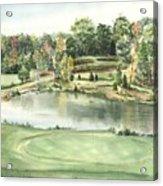 Seventeen Green The Trails Golf Course Acrylic Print by Lane Owen