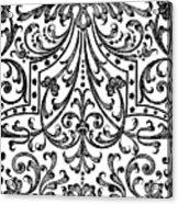 Seventeenth Century Parterre Pattern Design Acrylic Print