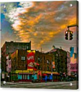 Seventh And Bleeker At Sunrise Nyc Acrylic Print