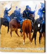 Seventh Cavalry In Action Acrylic Print