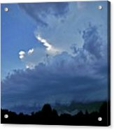 Severe Weather And Waxing Crescent Moon Acrylic Print
