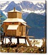 Seward Alaska House Of Stilts Acrylic Print