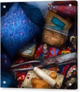 Sewing - Devoting To Sewing  Acrylic Print by Mike Savad