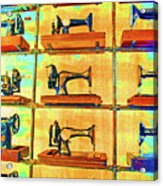 Sewing Machines Come To Life Acrylic Print