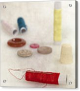 Sewing Supplies Acrylic Print