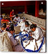Sewing Tapestries Acrylic Print