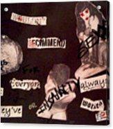 Sexxx Drugs Insanity  Acrylic Print