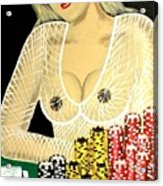 Sexy Poker Girl Acrylic Print