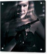 Sexy Woman Assassin Acrylic Print